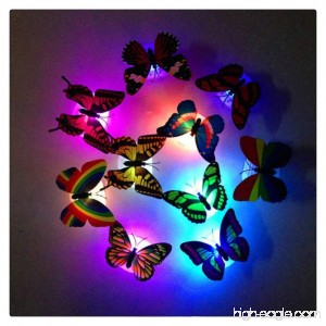 HMLAI Colorful Changing Butterfly LED Night Light Lamp Home Room Party Desk Wall Decor (2) - B07DMV2VDV
