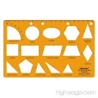 Linograph Geometric Shapes Drawing Drafting School & Office Template Stencil - B072DZ447B