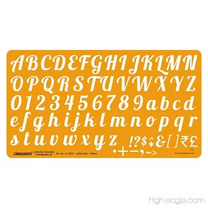 Linograph Lettering Template Calligraphy- II Letter Drawing Drafting Stencil 20 mm - B071DRPH7M
