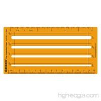Linograph Line Separation Template Guide Craft Drafting Shapes Stencil - B071KZ16QL