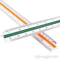 MyLifeUNIT Professional Plastic Engineering Triangular Scale Ruler (1:100 1:200 1:250 1:300 1:400 1:500) - B01HGCRDU4