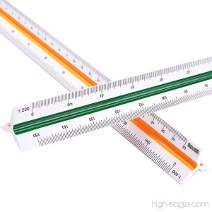 MyLifeUNIT Professional Plastic Engineering Triangular Scale Ruler (1:100 1:200 1:250 1:300 1:400 1:500) - B01HGCRDU4