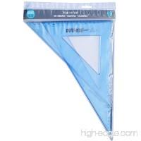 Onyx and Blue 35 cm 45 Degree and 60 Degree Set Square Transparent Plastic (2702) - B00YJF0LU6