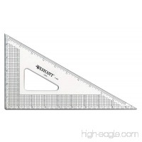 "Westcott Grid Triangle  10""  30/60 Degree  Transparent (T-4M) - B0028D4PZS"