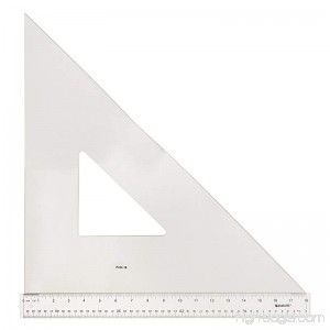 Westcott Professional Triangle 18 45/90 Degree Transparent (P450-18) - B01HBIZ9JK