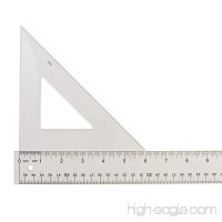 "Westcott Styrene Triangle  6""  45/90 Degree  Transparent (S450-6) - B00290MNIQ"