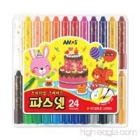 Amos Premium Non-toxic Silky Crayon Pasnet 24 Colors - B00N9UISHK