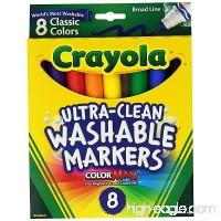 Basic Crayola School Supply Kit - Back to School 6 Items (Washable Crayola Markers Bundle) - B074233CW6