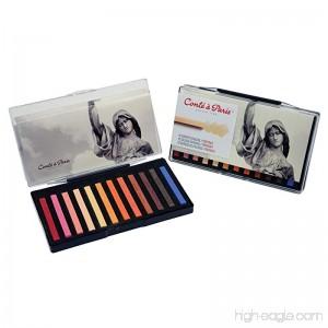 Conté à Paris Colored Crayons Set with 12 Assorted Portrait Colors - B0044TP6SE
