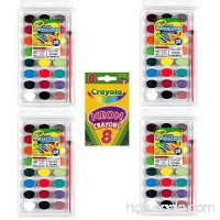 Crayola 24 Ct Washable Watercolors  Pack of 4  Bundle with Box of Neon Crayons - B07D5H77LY