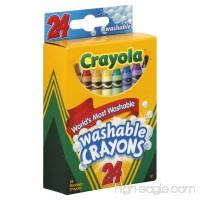 Crayola Crayons Washable 24 CT (Pack of 12) - B00KODE8NI