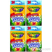 Crayola Washable Crayons  24 Count (Pack of 4) Total 96 Crayons - B011JBKONG