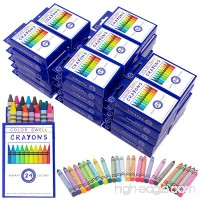Crayons Bulk 36 Packs of 24 Count Vibrant Colors Teacher Quality Durable Classroom Pack for Kids Students Party Favors by Color Swell - B06XDJJ6D1