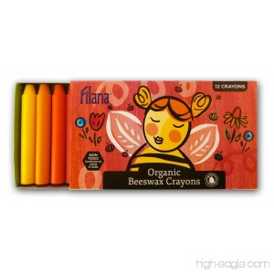 FILANA (12 Stick Crayons) Pure Certified Organic Beeswax - Handmade in the USA - Rich Colors - No Cheap Paraffin Waxes - Good for Earth. Good for Bees - B018SWJWGY