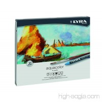 LYRA Aqua Color Water-Soluble Wax Crayons Set of 24 Assorted Colors (5611240) - B0044JOUCC