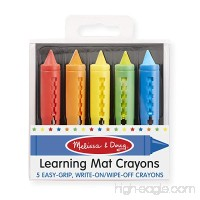 Melissa & Doug Learning Mat Crayons - 5 Colors - B0044JUL4I