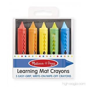 Melissa & Doug Learning Mat Crayons - 5 Colors - B0044JUL4I