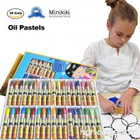MiniKIKI Oil Pastels  36 Cols Washable Crayons  Color Crayons  Oil Paint Sticks  Soft Pastels  Children Drawing Set  Smooth Blending Texture  Drawing Supplies  School Art Supplies  Great for Artists - B076P3ZRCY