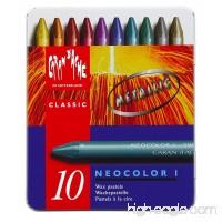 Neocolor I Water-Resistant Wax Pastels 10 Metallic Colors - B001SN8JVA