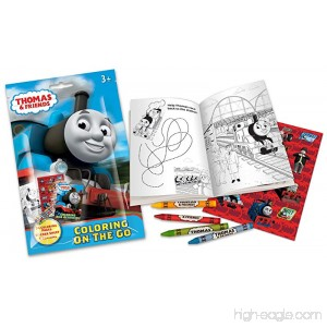 Thomas & Friends On The Go Coloring Pouch Activity Set with Stickers Crayons and Coloring Pages - B00STTRT9E