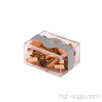 Eccolo Keep It Together Clips  Set of 12 Metallic Copper Mini Binder Clips - B07C1TRDX9
