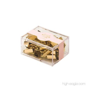 Eccolo Keep It Together Clips Set of 12 Metallic Gold Mini Binder Clips - B07C1T3YBP