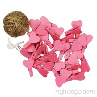 [Hearts-2] 48 Pcs Cute Wooden Photo Clips Craft Photo Paper Pegs Clothespins - B07FPG67Y9