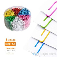 Jumbo Paper Clips 450 Pieces Colored Paper Clips 28/50mm for Office and Personal Document Organization (Assorted Color) - B07DVWBXDB