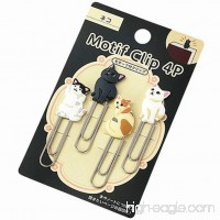 Lovely Cat Paper Clips Bookmark Memo Clip 65mm  Pack of 4 (4 clips total) - B072F5PN32