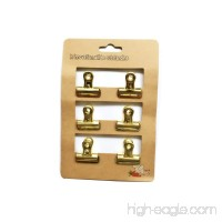 METAN Heavy Duty Bulldog Clip 1 Inch Duckbill Clips Mini Clothes Pins Retro Style for Office Bills or Home Wall Prints (Gold) - B075FMM6H1