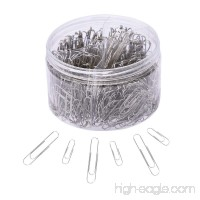 Paper Clips 450 Pieces Sliver Paperclips with Medium and Jumbo Size(28mm 50mm)  Assorted Sizes Office Clip for School Home Document Organizing Work - B07CTB1W1Y