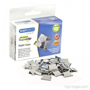 Rapesco Supaclip #40 Refill Clips [Pack of 200] - B000I6NOS6