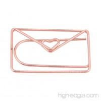 TOOGOO 12Pcs Decorative Envelop Shape paper clip Bookmark Document Organizing Clip - B07C97K6M2