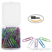 Tupalizy 100PCS Multi-Colored Vinyl-Coated Metal Bookmark Memo Note Paper Clips Clamps for File Document Organizing and Home Office School Supplies  50MM/2 inch  Random Color - B07C1W8SLZ