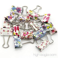 Wiwaplex 24Pcs Colorful Printed Binder Clips  1-1/4 Inch (32MM) - B01MDUTR6P