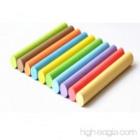 10-Color Dustless Chalk 10 Pcs for School and Office - B07DGZLZCD