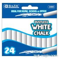 BAZIC Dustless Chalk  White  24 Per Box - B003BUK0UG
