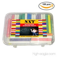 NXT Dustless Multicolor Chalks (100 Counts) Premium Quality Non Toxic Easily Washable and Eco Friendly Chalks - B07CCHCNC2