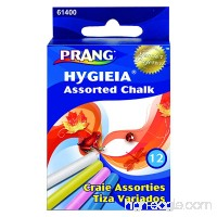 Prang Hygieia Chalk 3.25 x .375 Inch Chalk Sticks 12 Count Assorted Colors (61400) - B0000AQNKL