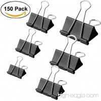150 Pieces Assorted Binder Clips  Perskii Heavy Duty Paper Clamp Clips Paper Binder Assorted 6 Sizes for Students Teachers Schools Office Home (150) - B07D1LGWZ8