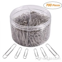 700 Paper Clips Medium and Jumbo Size Paperclips for Office School and Personal Use(28 mm 33mm 50 mm) (Silver) - B07F7RQVKW