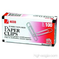 "ACCO Economy Jumbo Paper Clips  Non-skid Finish  Jumbo Size 1-7/8""  1000 units (100 / box  10 / pack) (72585) - B0017TJ9BY"