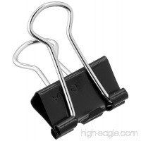 ACCO Small Binder Clips  Steel Wire  5/16 Cap.  3/4w  Black/Silver  6 Packs (ACC72020X6) - B01NCLRKBQ