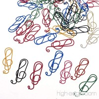 BCP 50PCS Random Color Musical Notes Style Metal Cute Paper Clips - B01JKNOS64