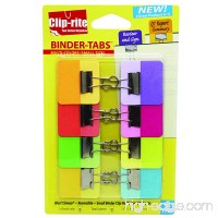 Clip-rite Binder-Tabs Filing Binders  Small  Solid  Assorted  8-Piece (CRT-049) - B00DYG4EJA