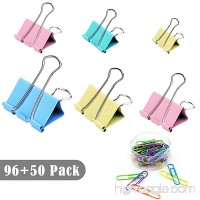 JPSOR Colored Binder Clips Paper Clamp Clips Paper Clips Assorted (Multi) - B07C7G17SH