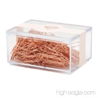 MultiBey Rose Gold Paper Clips Non-skid Smooth Finish Steel Wire Medium and Large Size 200pcs/28mm 70pcs/50mm (50mm) - B01NATUNWL