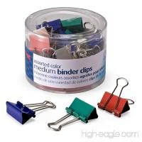 Officemate Medium Binder Clips  Assorted Colors  24 Clips per Tub (31029) - B000FDP9XK