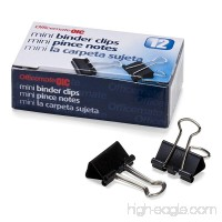 Officemate OIC Mini Binder Clips  Black  144 Pack (12 Boxes of 1 Dozen Each) (99010) - B009X9ZADQ
