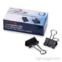 Officemate Small Binder Clips  Black  12 Boxes of 1 Dozen Each (144 Total) (99020) - B001HBIPDK